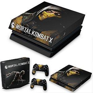 KIT PS4 Slim Skin e Capa Anti Poeira - Mortal Kombat X