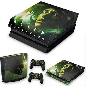 KIT PS4 Slim Skin e Capa Anti Poeira - Alien Isolation