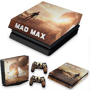 KIT PS4 Slim Skin e Capa Anti Poeira - Mad Max