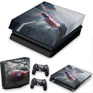 KIT PS4 Slim Skin e Capa Anti Poeira - Need For Speed Rivals