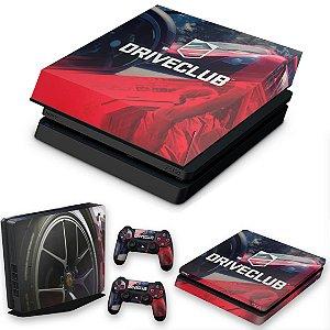 KIT PS4 Slim Skin e Capa Anti Poeira - Driveclub