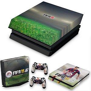 KIT PS4 Slim Skin e Capa Anti Poeira - Fifa 15