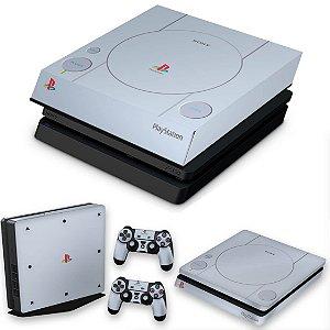 KIT PS4 Slim Skin e Capa Anti Poeira - Sony Playstation 1