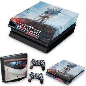 KIT PS4 Slim Skin e Capa Anti Poeira - Star Wars - Battlefront