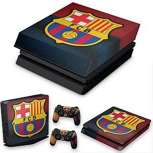 KIT PS4 Slim Skin e Capa Anti Poeira - Barcelona