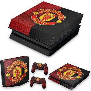 KIT PS4 Slim Skin e Capa Anti Poeira - Manchester United