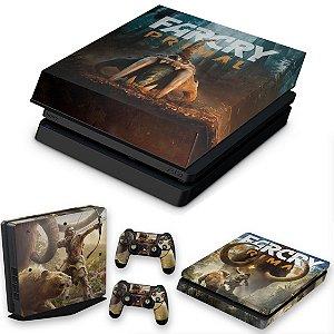 KIT PS4 Slim Skin e Capa Anti Poeira - Far Cry Primal