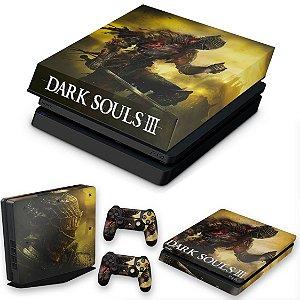 KIT PS4 Slim Skin e Capa Anti Poeira - Dark Souls 3