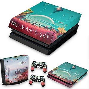 KIT PS4 Slim Skin e Capa Anti Poeira - No Man'S Sky