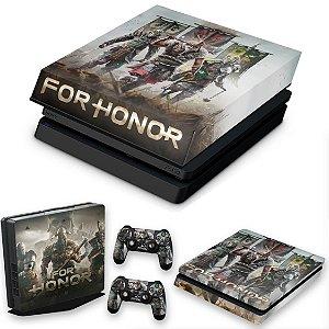 KIT PS4 Slim Skin e Capa Anti Poeira - For Honor