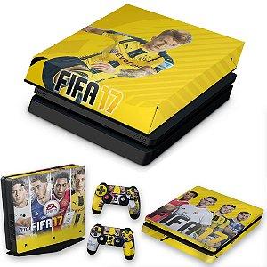 KIT PS4 Slim Skin e Capa Anti Poeira - Fifa 17
