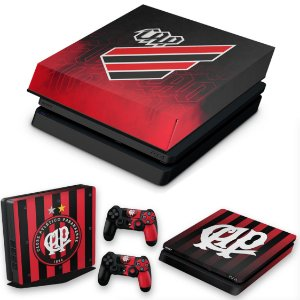 KIT PS4 Slim Skin e Capa Anti Poeira - Atlético Paranaense Cap