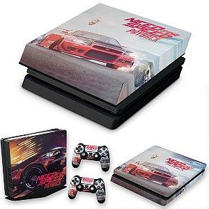 KIT PS4 Slim Skin e Capa Anti Poeira - Need For Speed Payback