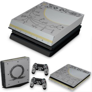 KIT PS4 Slim Skin e Capa Anti Poeira - God Of War Limited Edition