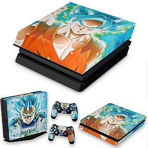KIT PS4 Slim Skin e Capa Anti Poeira - Dragon Ball Super
