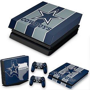 KIT PS4 Slim Skin e Capa Anti Poeira - Dallas Cowboys Nfl