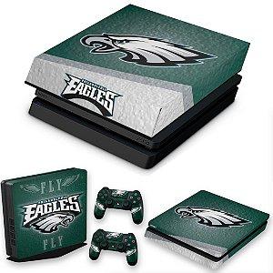 KIT PS4 Slim Skin e Capa Anti Poeira - Philadelphia Eagles Nfl