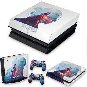 KIT PS4 Slim Skin e Capa Anti Poeira - Battlefield V