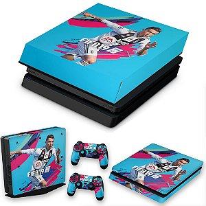 KIT PS4 Slim Skin e Capa Anti Poeira - Fifa 19