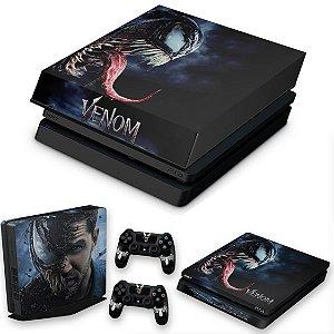 KIT PS4 Slim Skin e Capa Anti Poeira - Venom