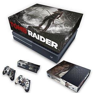 KIT Xbox One Fat Skin e Capa Anti Poeira - Tomb Raider