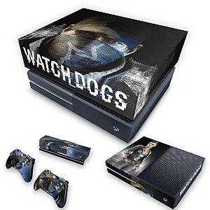 KIT Xbox One Fat Skin e Capa Anti Poeira - Watch Dogs