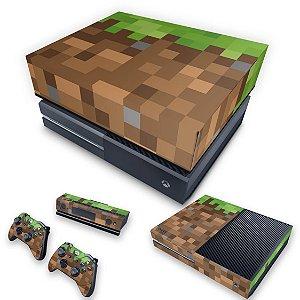 KIT Xbox One Fat Skin e Capa Anti Poeira - Minecraft