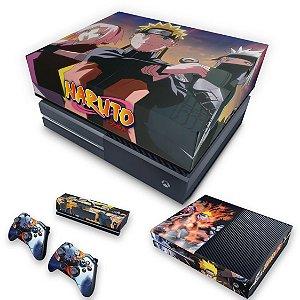 KIT Xbox One Fat Skin e Capa Anti Poeira - Naruto