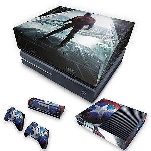 KIT Xbox One Fat Skin e Capa Anti Poeira - Capitão America
