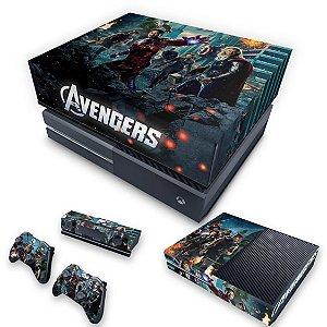KIT Xbox One Fat Skin e Capa Anti Poeira - The Avengers - Os Vingadores