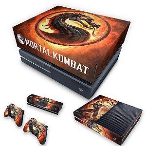 KIT Xbox One Fat Skin e Capa Anti Poeira - Mortal Kombat
