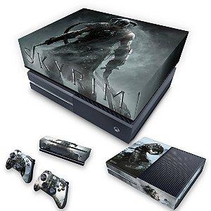 KIT Xbox One Fat Skin e Capa Anti Poeira - Skyrim