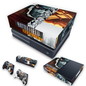 KIT Xbox One Fat Skin e Capa Anti Poeira - Battlefield Hardline