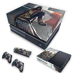 KIT Xbox One Fat Skin e Capa Anti Poeira - Assassins Creed Unity