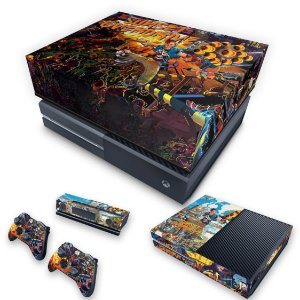 KIT Xbox One Fat Skin e Capa Anti Poeira - Sunset Overdrive