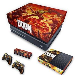 KIT Xbox One Fat Skin e Capa Anti Poeira - Doom