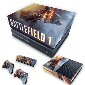 KIT Xbox One Fat Skin e Capa Anti Poeira - Battlefield 1