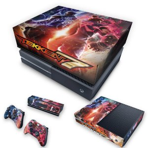 KIT Xbox One Fat Skin e Capa Anti Poeira - Tekken 7