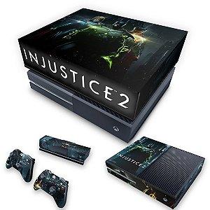 KIT Xbox One Fat Skin e Capa Anti Poeira - Injustice 2