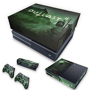 KIT Xbox One Fat Skin e Capa Anti Poeira - Outlast 2