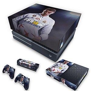 KIT Xbox One Fat Skin e Capa Anti Poeira - FIFA 18