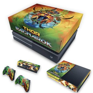 KIT Xbox One Fat Skin e Capa Anti Poeira - Thor Ragnarok