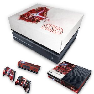 KIT Xbox One Fat Skin e Capa Anti Poeira - Star Wars The Last Jedi