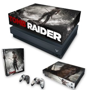 KIT Xbox One X Skin e Capa Anti Poeira - Tomb Raider