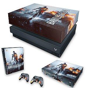 KIT Xbox One X Skin e Capa Anti Poeira - Battlefield 4