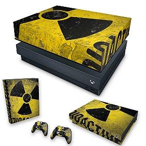 KIT Xbox One X Skin e Capa Anti Poeira - Radioativo