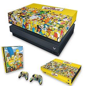 KIT Xbox One X Skin e Capa Anti Poeira - The Simpsons
