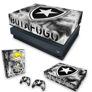 KIT Xbox One X Skin e Capa Anti Poeira - Botafogo