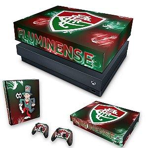 KIT Xbox One X Skin e Capa Anti Poeira - Fluminense