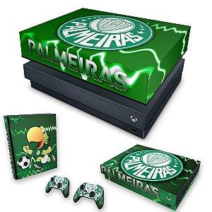 KIT Xbox One X Skin e Capa Anti Poeira - Palmeiras